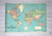 Spirit Lead Me (Hillsong) - 20x28 Blue World Map