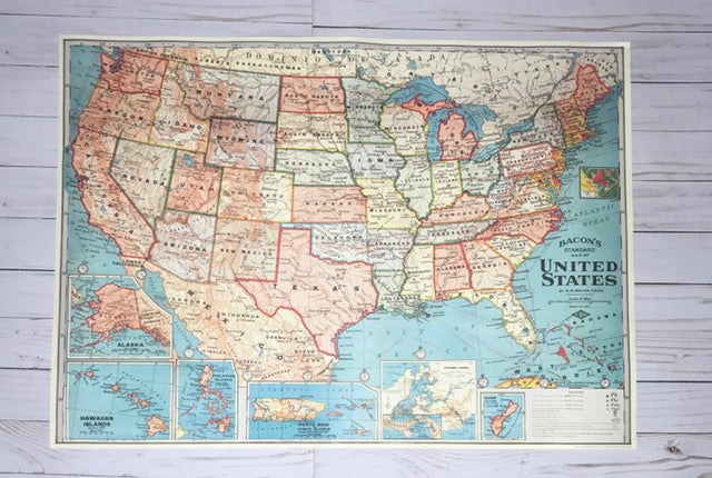Life begins at the end of your comfort zone - 20x28 United States of America Map