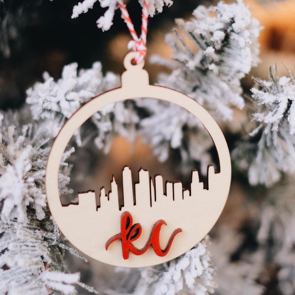 KANSAS CITY SKYLINE ORNAMENT