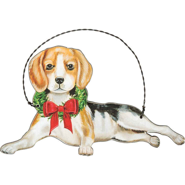 PERSONALIZED BEAGLE CHRISTMAST ORNAMENT