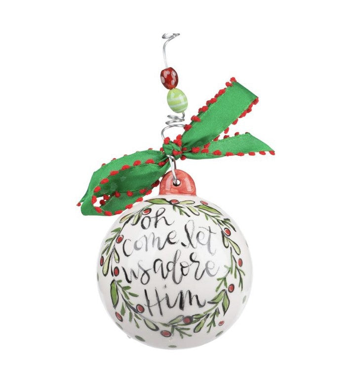 """OH, COME LET US ADORE HIM"" ORNAMENT - Personalize this!"