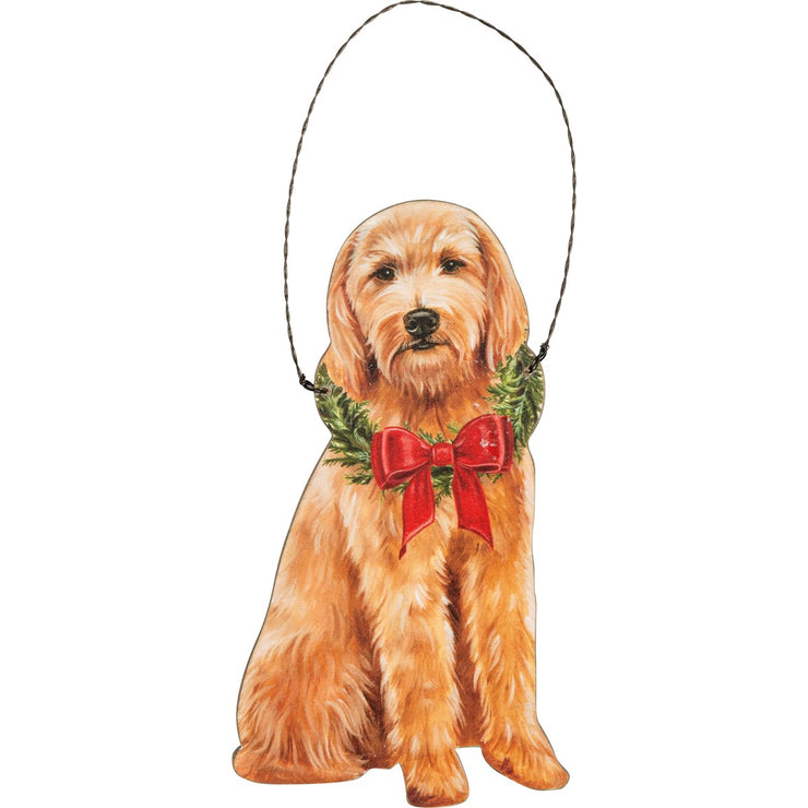PERSONALIZED GOLDENDOODLE CHRISTMAST ORNAMENT