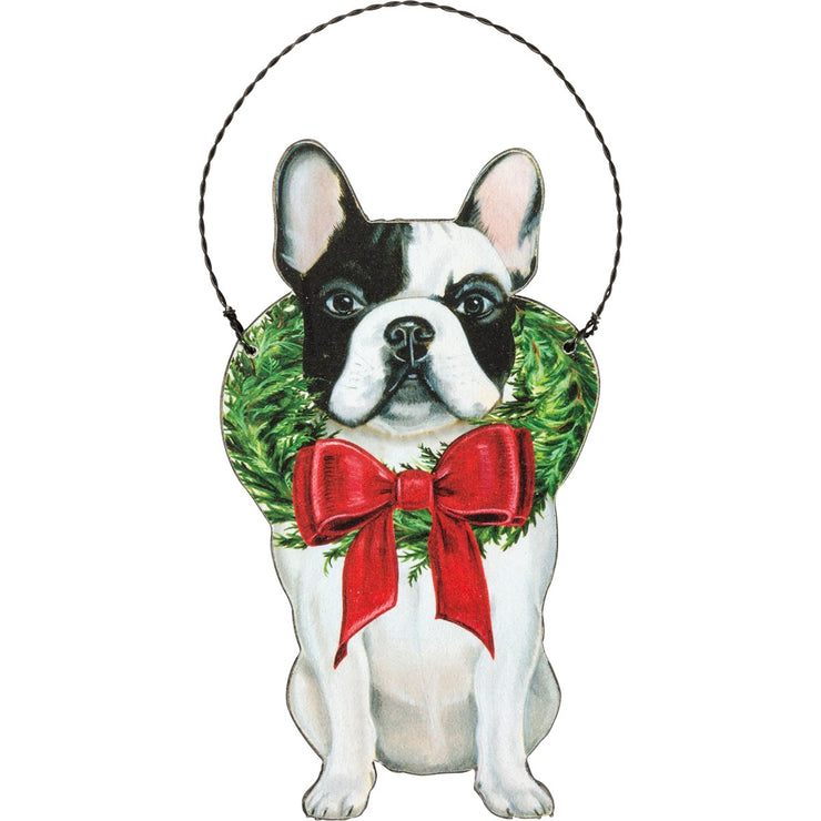 PERSONALIZED FRENCHIE CHRISTMAST ORNAMENT