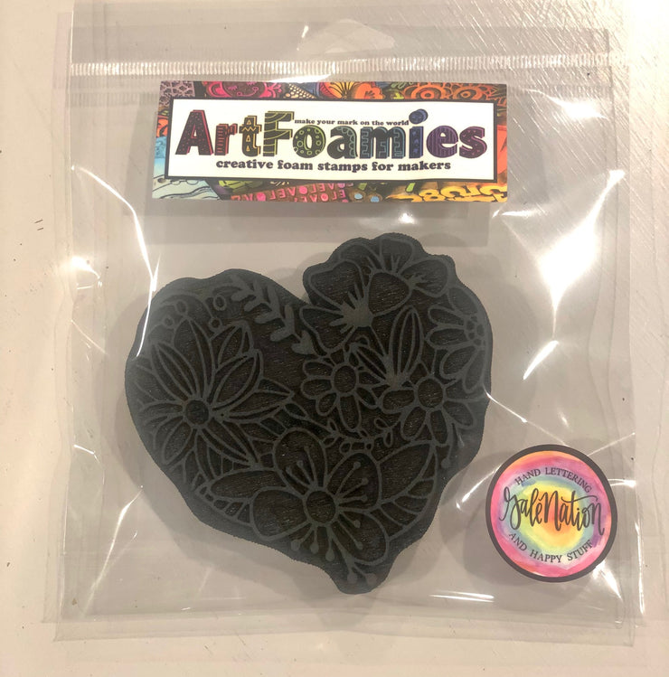"""HEARTFULL"" FOAM STAMP"