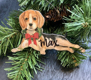 PERSONALIZED GOLDEN RETRIEVER CHRISTMAST ORNAMENT