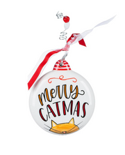 "PERSONALIZED ""MERRY CATMAS"" CHRISTMAS ORNAMENT"
