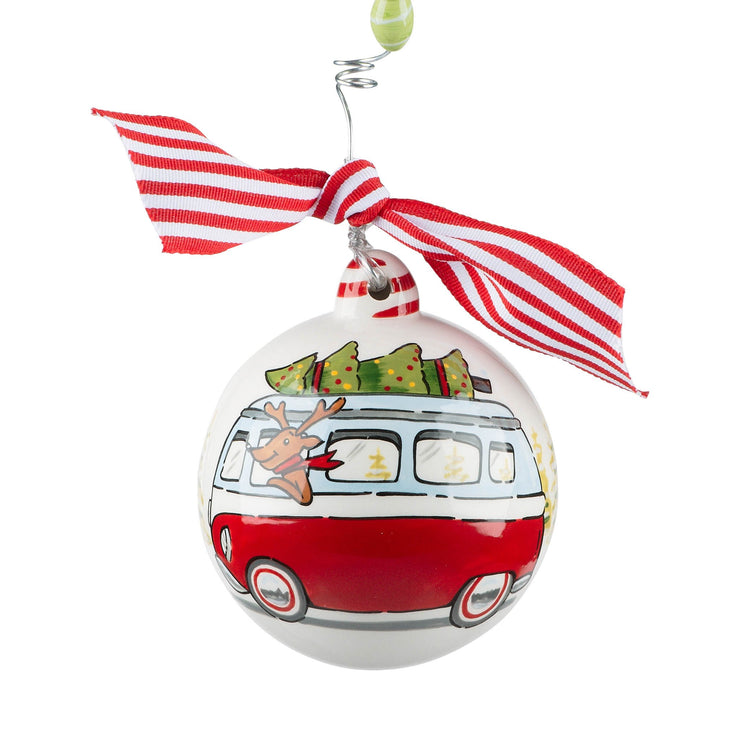 """VW REINDEER BUS"" CHRISTMAS ORNAMENT - Personalize this!"