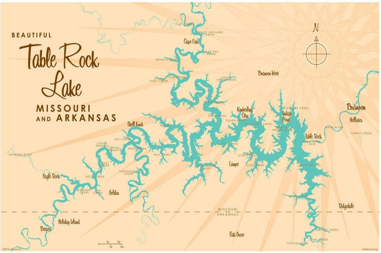 TABLE ROCK LAKE MAP