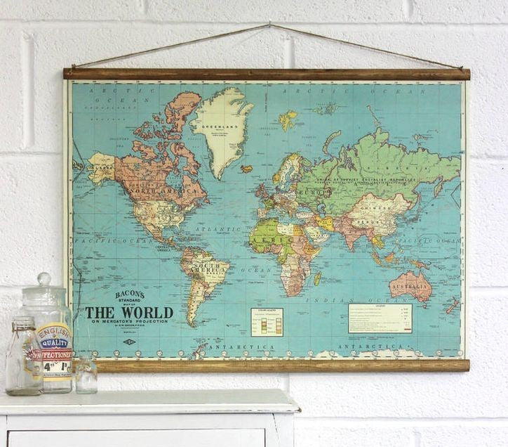 "DOWEL HANGER KIT - FITS 20x28"" WORLD or USA MAPS"