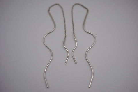 Asymmetrical Infinity Root Threader Earrings