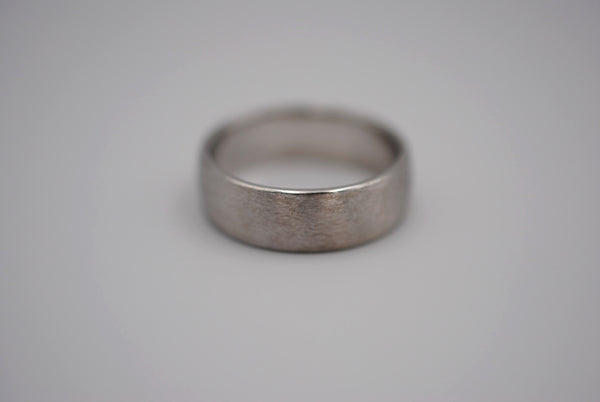 Brushed Finish Men's Silver Ring Band