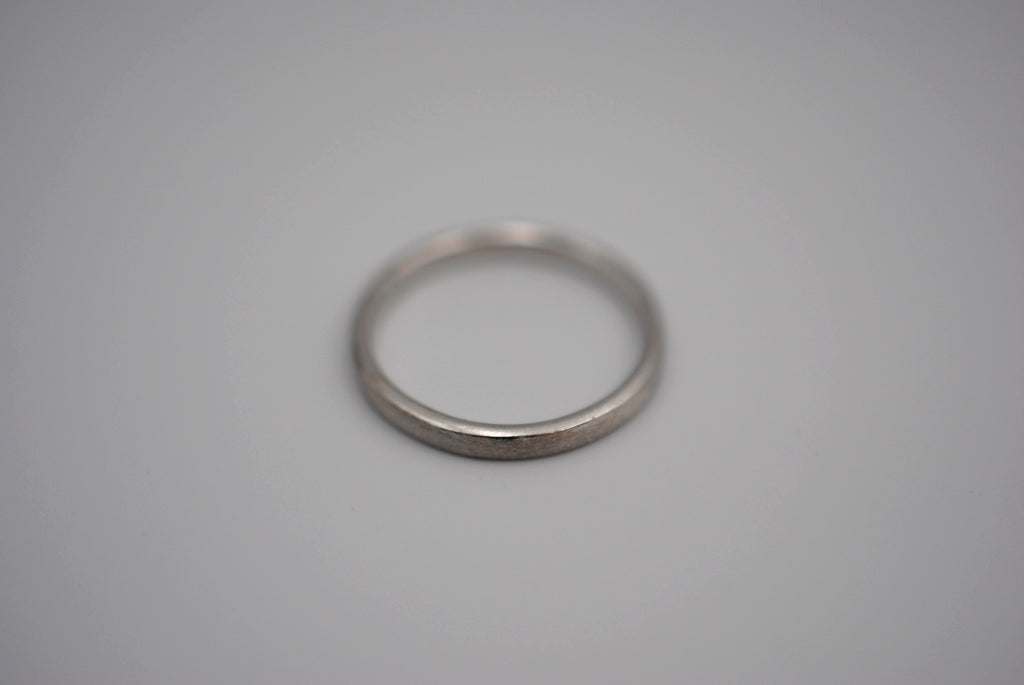 Brushed Finish Women's Silver Ring Band