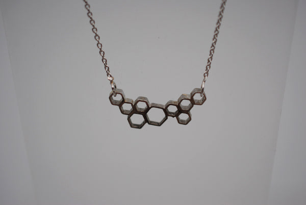 Cascading Honeycomb Bar Necklace