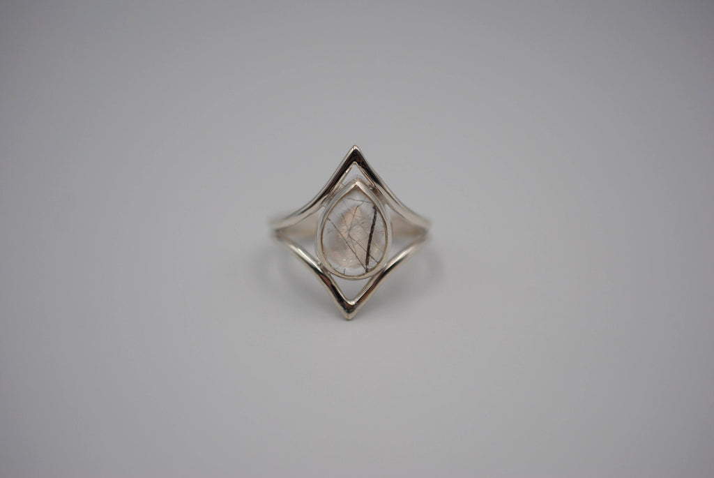 Chevron Rutilated Quartz Ring