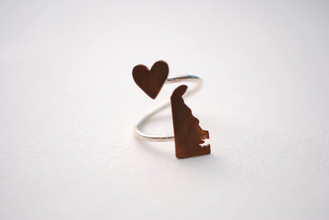 Delaware Heart Place Ring
