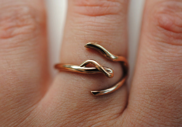 Infinity Rose Gold Thicker Roots Ring