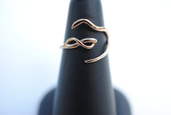 Infinity Rose Gold Roots Ring