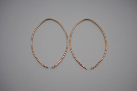 Large Rose Gold Open Hoop Earrings