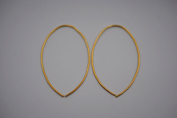 Large Yellow Gold Open Hoop Earrings