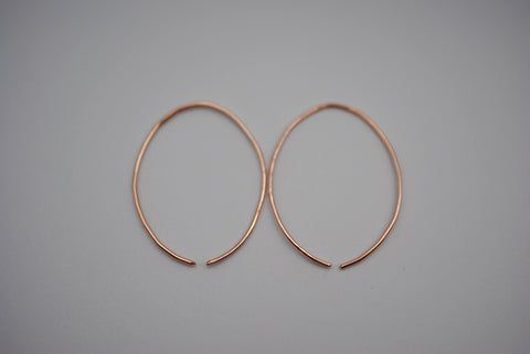 Medium Rose Gold Open Hoop Earrings