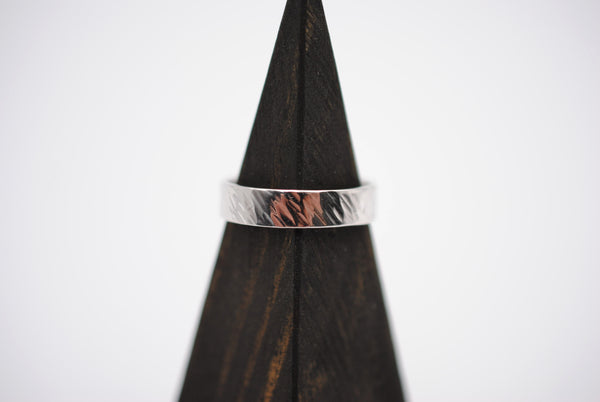 Bark Rhodium Ring Band