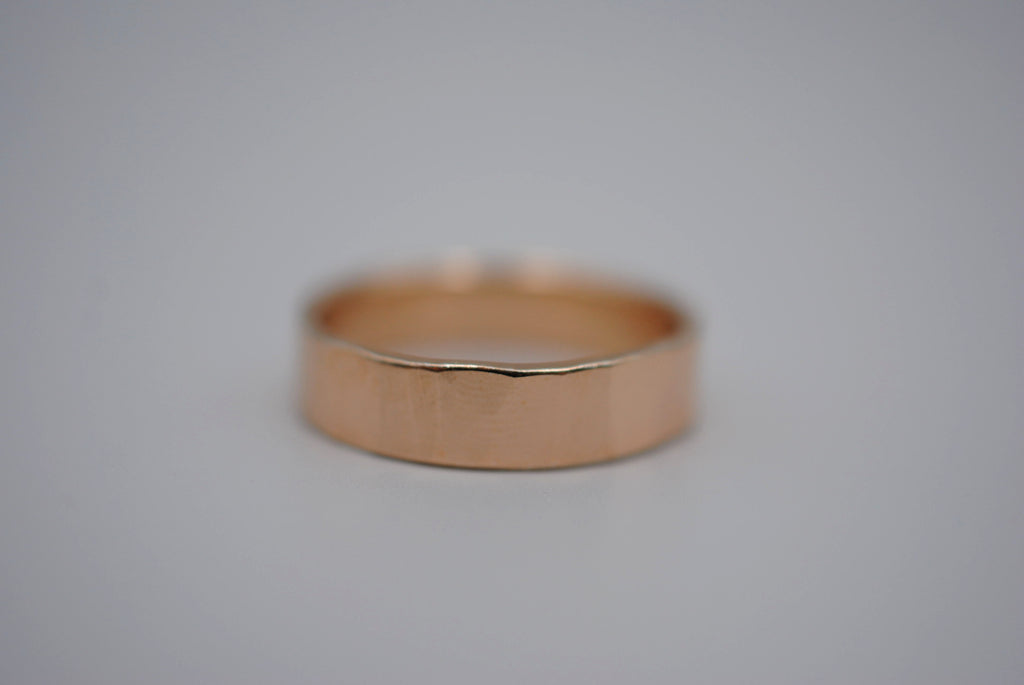 Rock Rose Gold Ring Band