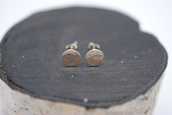 Rock Circle Post Earrings