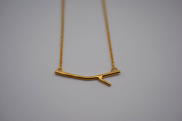 Sprout Yellow Gold Roots Necklace