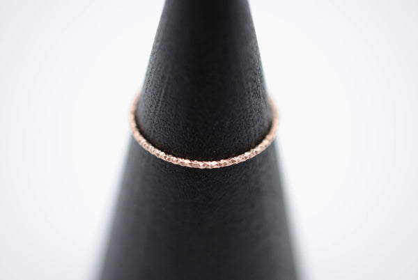 Thin Rose Gold Sparkle Stacker Ring