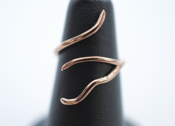 Vine Rose Gold Roots Ring
