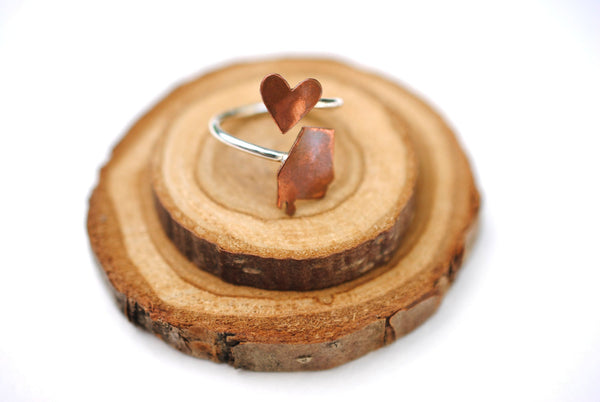 Alabama Heart Place Ring