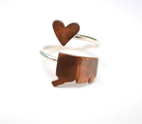 Connecticut Heart Place Ring