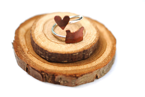 Oregon Heart Place Ring