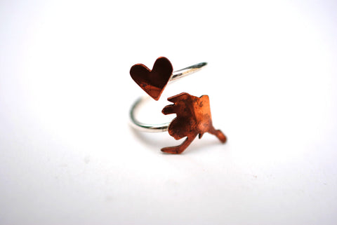 Alaska Heart Place Ring