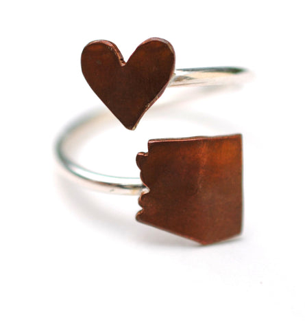 Arizona Heart Place Ring