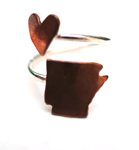 Arkansas Heart Place Ring
