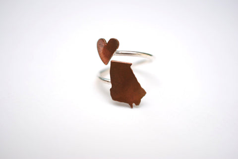 Georgia Heart Place Ring