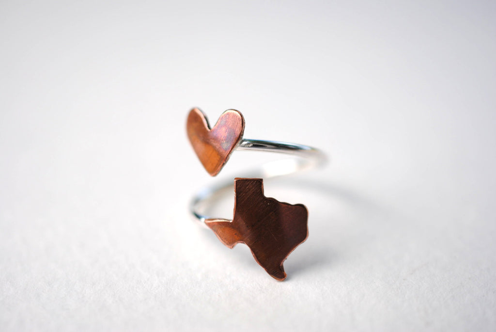 Texas Heart Place Ring