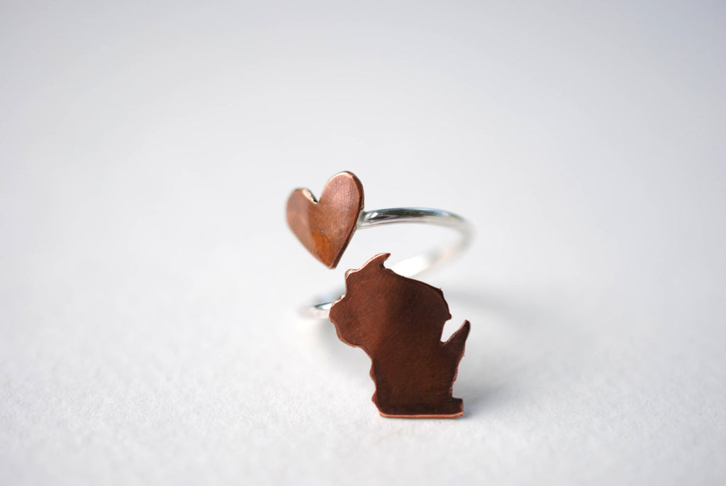 Wisconsin Heart Place Ring