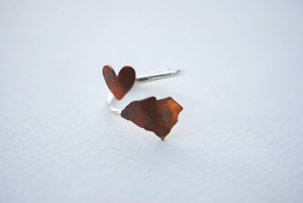 South Carolina Heart Place Ring