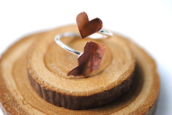 Indiana Heart Place Ring
