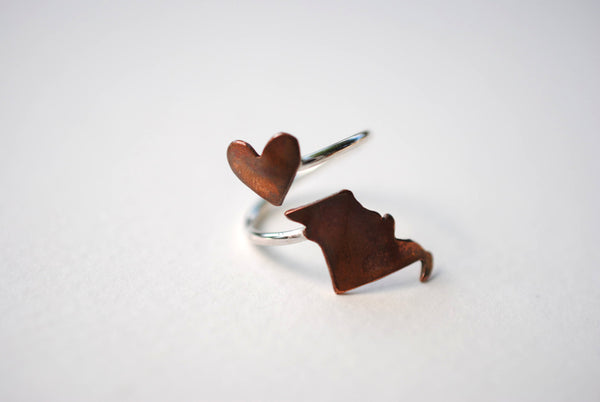 Missouri Heart Place Ring