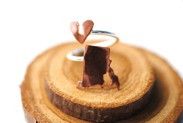 Rhode Island Heart Place Ring