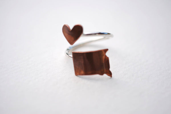 South Dakota Heart Place Ring
