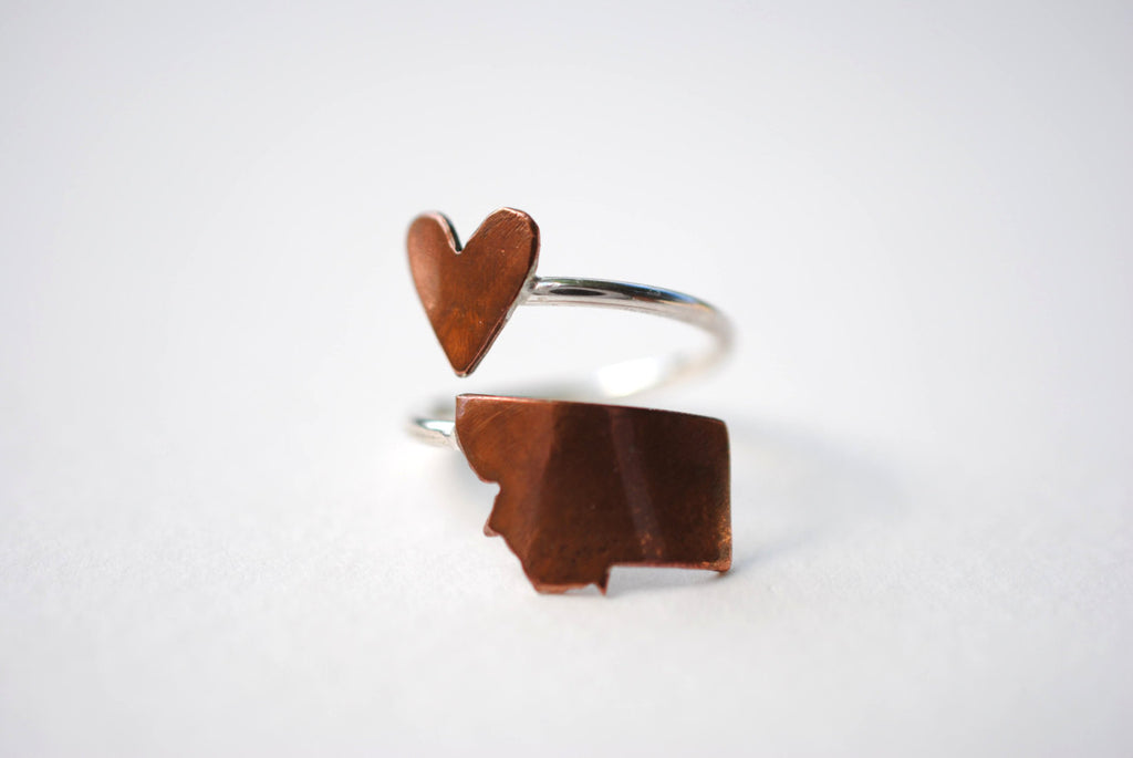 Montana Heart Place Ring
