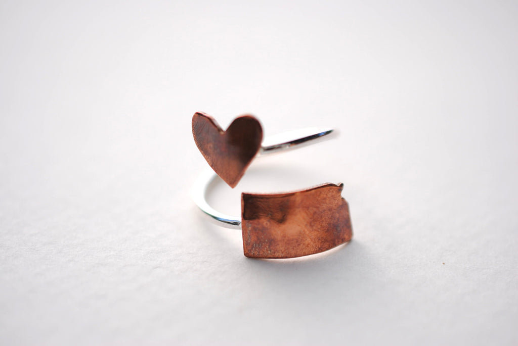 Kansas Heart Place Ring