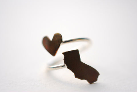 California Heart Place Ring
