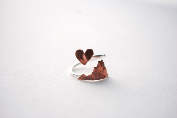Virginia Heart Place Ring