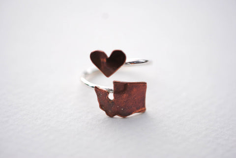 Washington Heart Place Ring