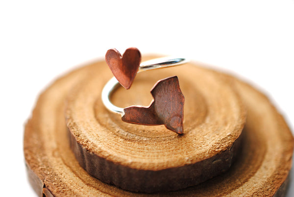New York Heart Place Ring
